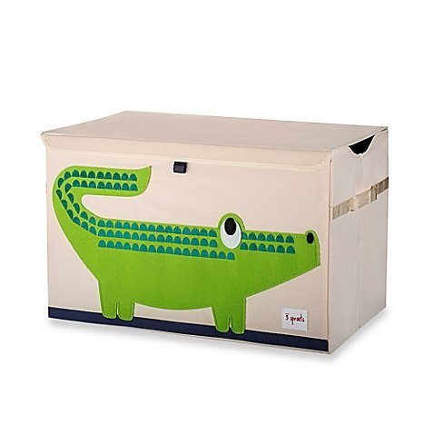 3 Sprouts Toy Chest in Crocodile by 3 Sprouts