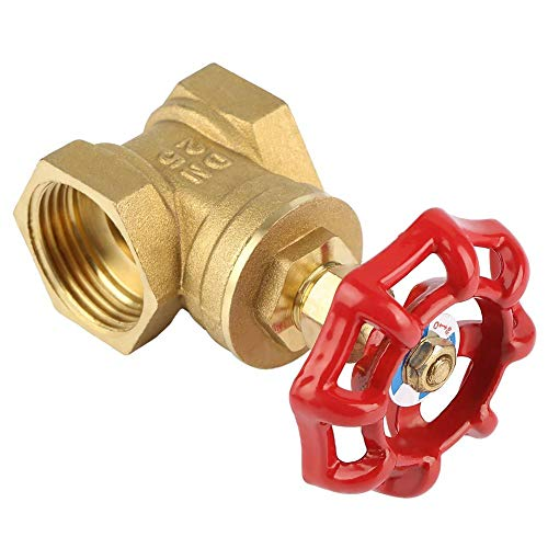 DN25 Sturdy Brass Gate Valve BSPP G1 Rotary Sluice Valve 232PSI for Water Oil Gas by Walfront (Image #5)