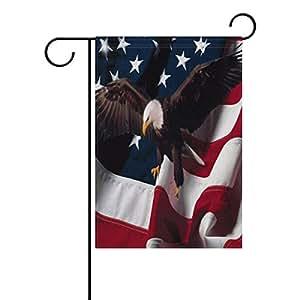 "ONEERA American Flag Eagle USA Flag Weatherproof Polyester House Flag 28"" x 40"" Seasonal Garden Banner"