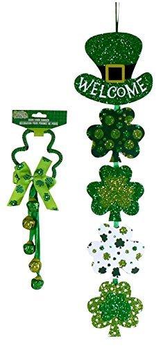 Sassy Leprechaun - St. Patrick's Day Door Knob Bell Hanger and Welcome Banner Bundle - 2 pc