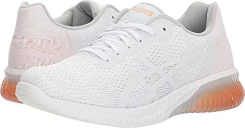 ASICS T888N Women's Gel-Kenun MX Running Shoe, White/White/Apricot Ice - 9.5 by ASICS