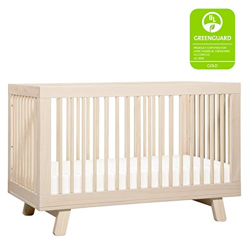 41bopqF7BDL - Babyletto Hudson 3-in-1 Convertible Crib With Toddler Bed Conversion Kit In Washed Natural, Greenguard Gold Certified