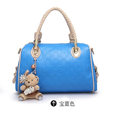 [HIFISH HB125214C5 PU Leather Korean Style Women's Handbag,Pillow Type Hit The Color Package] (Dallas Wholesaler Costumes Jewelry)
