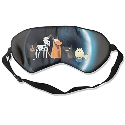 Price comparison product image Dog Total Solar Eclipse Unisex Sided Silk Blindfold For Men Women Kids