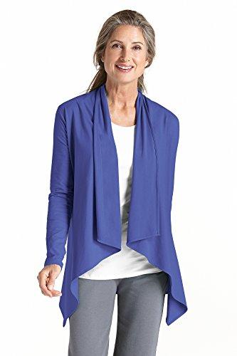 coolibar Mujer Chaqueta Protección UV 50+ Azul - Empire blau