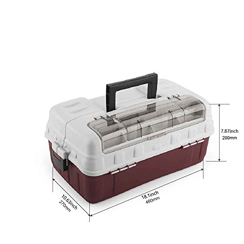 3 TRAY TACKLE BOX Plano Case Organizer Storage Fishing Bait Accessories Kit Set