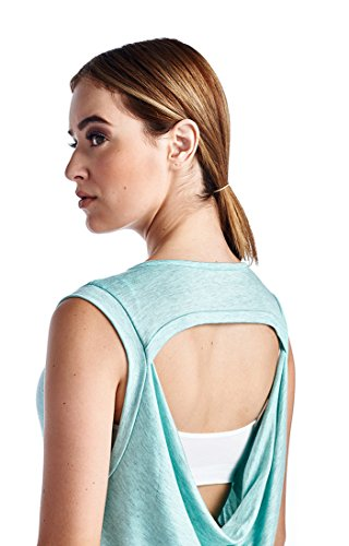 37c2231a94b20 LaClef Women s Super Soft Knit Cowl Back Yoga Tank Top. related-product. Queenie  Ke Women s Light Support Double-T Back Wirefree Pad Yoga Sports Bra