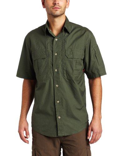 Woolrich Men's Elite Lightweight Operator Tactical Short Sleeve Shirt  (OD Green, Small)