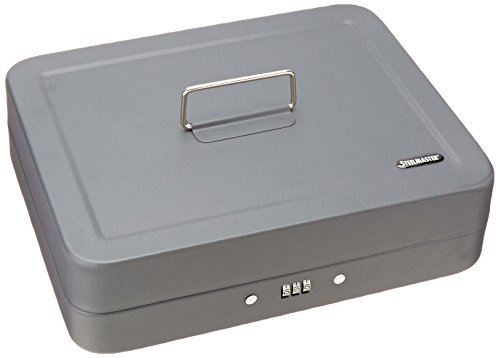 STEELMASTER Combination Lock Security Box, Gray, 2216190G2