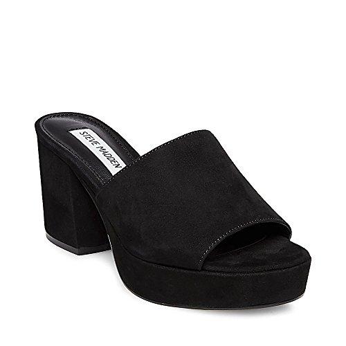 Velvet Suede Footwear - Steve Madden Women's Relax Black Suede Dress Open 5.5 US