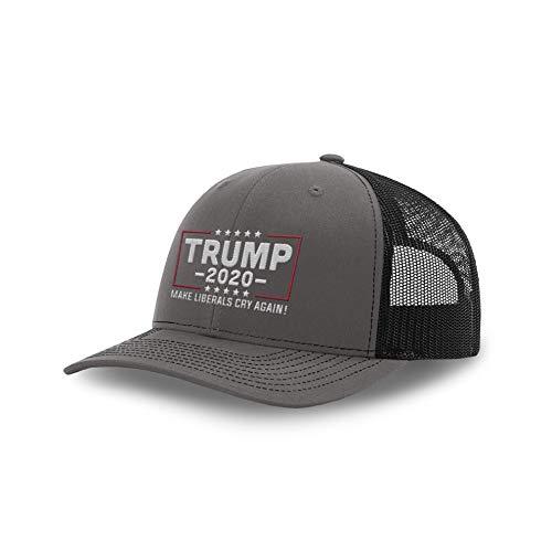 - Printed Kicks Trump Hat 2020 Make Liberals Cry Again Back Mesh (Charcoal Front/Black Mesh)