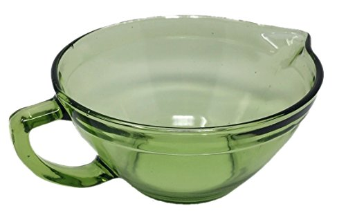 Batter Mixing Bowl Reproduction Glass (Green) (Depression Glass Cup)