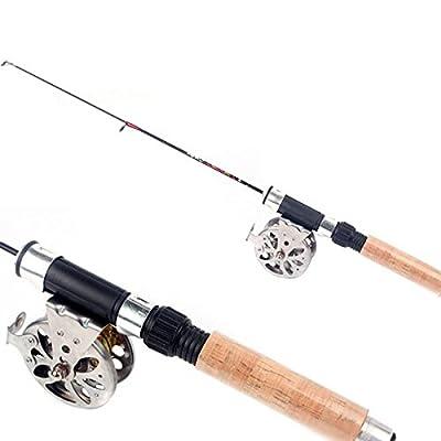 60cm Telescopic Carbon Mini Ultra-light Ice Fishing Rod Pole Fishing Tackle Tool