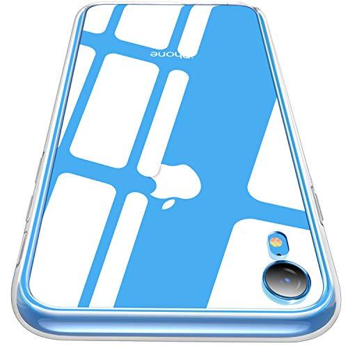 騒々しいグッゲンハイム美術館債権者CASEKOO iPhone XR ケース 6.1インチ 強化ガラスケース クリア 硬度9H 全面保護カバー アイフォン XR ケース 全透明 ハードケース 耐衝撃 滑り止め クロス付き ワイヤレス充電対応 [クリア]