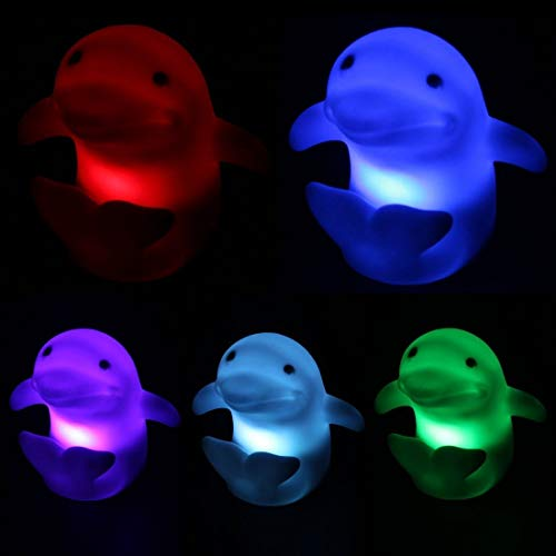 Kasstino Creative 7 Colors Change Dolphin Design LED Night Light Lamp Home Decor Gift