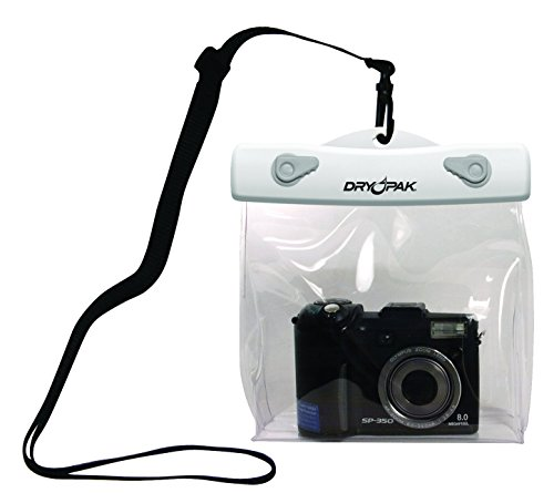 DRY PAK, Clear Camera Case, 6 x 5 x 1 1/2, White/Clear by Dry Pack