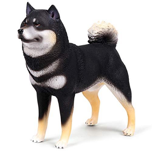 (Kolobok – Farm Animals Action Figures - Dogs – Shiba Inu – Zoo Pets Educational Toys – Black and White )