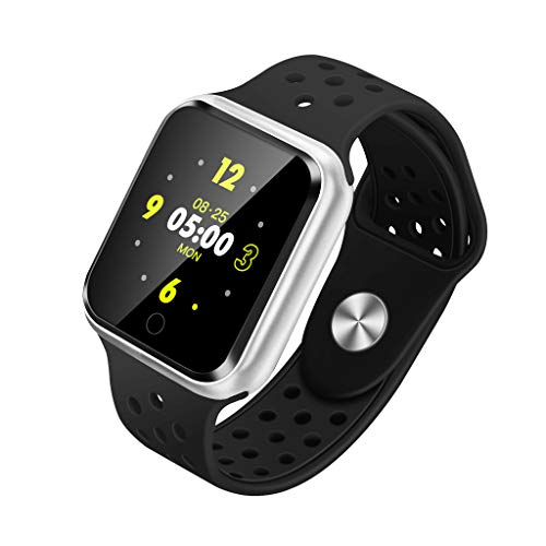 RYGHEWE Fitness Tracker with Heart Rate Monitor,Color Screen Activity Tracker Sleep Monitor IP68 Waterproof Smart Watches Silver