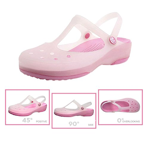 Womens Boots Change Soft Color Flat Breathable Beach Jelly Shoes Hole Pink Summer Shoes Haodasi Rain slip Ladies Non Shoes Sandals Rainboots t6zA6UWqwF