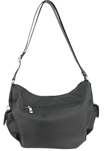 Ted Lapidus - Bolso estilo cartera para mujer negro negro 32 (L) x 24 (H) x 13 (E) cm