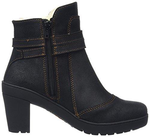 Art Travel Strap Ankle Boot - Botines para mujer Negro - Black (Waxy Black)