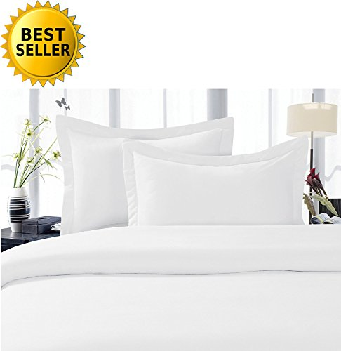Best Seller Luxurious Bed Sheets Set on Amazon! Celine Linen 1500 Thread Count Egyptian Quality Wrinkle Free 4-Piece Sheet Set with Deep Pockets 100% HypoAllergenic, California King, White