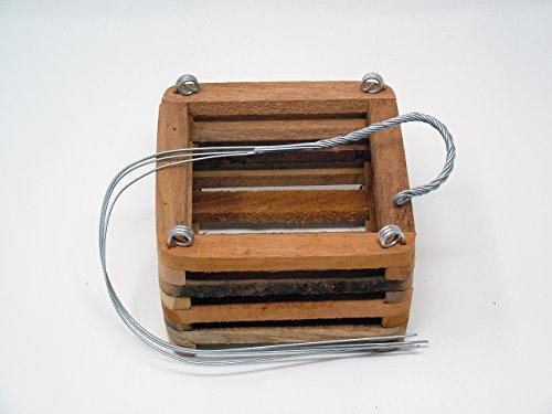 Wood Slat Vanda Orchid Basket. Cedar. 6 Inch with 20 inch hanger.