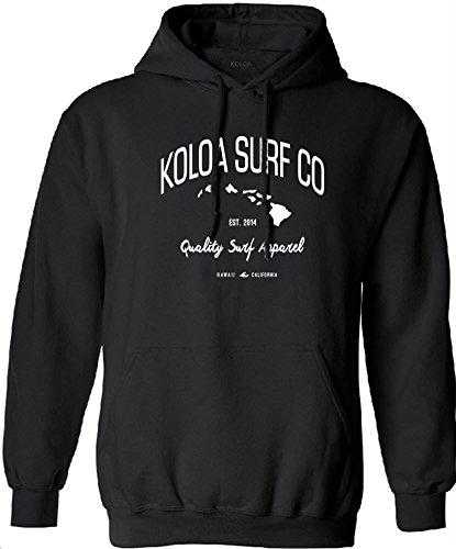 Koloa Surf(tm) Islands Logo Hoodie-Hooded Sweatshirt-Black/w-XL
