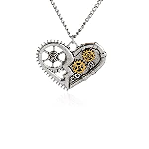 WeiVan Steampunk Necklace Retro Gothic Victorian Industrial Gears Jewelry