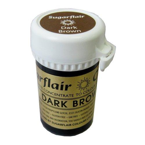 25g Gel (3 x Sugarflair 25g Dark Brown Spectral Paste Gel Edible Food Colour Cake Icing)