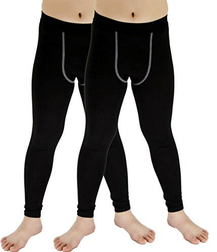 Lanbaosi 2 Packs Boys & Girls Sports Thermal Compression Base Layer Legging/Tights – DiZiSports Store