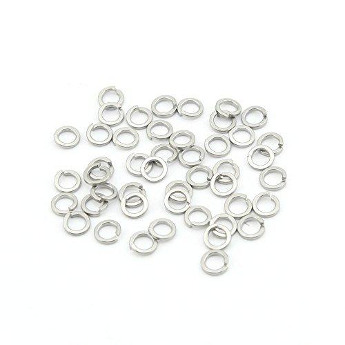 Yasorn High Collar Lock Washer Stainless Steel Split Lock Washer M6 Pack of 100