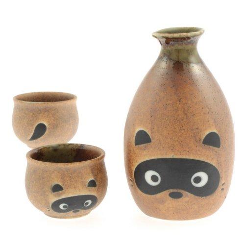 Kotobuki 120-534 Mischievous Tanuki Sake Set