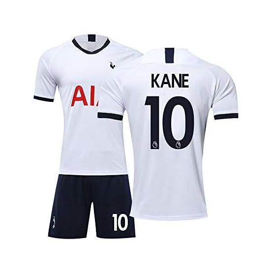 WYZSZMF 19/20 Saison Tottenham Hotspur Soccer Jersey Accueil T-Shirt Mis Bas Nombre De Costume De Ventilateur 10 Kane (Couleur : White Home#10 Kane, Size : XXL)