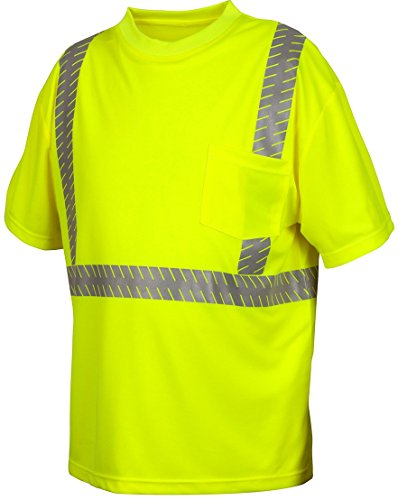 Pyramex Safety RTS2310X4 Hi-Vis SAFETY Shirt with Moisture Wicking Mesh, 4X-L, 4X-Large by Pyramex Safety