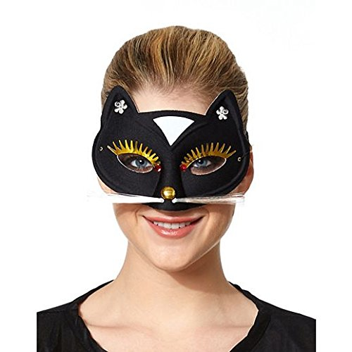 Costume Beautiful Black Cat Mask -