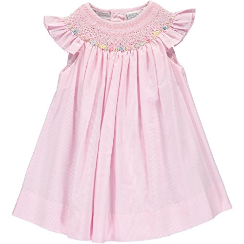 Baby Girl Hand Smocked Pink Bishop Dress