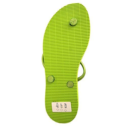 Dupe' Ciabatta Mare Piscina Donna Verde Lime 37-38