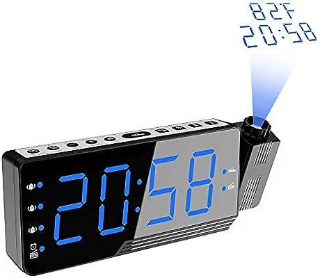 Reloj despertador proyector, Radio reloj despertador digital ...