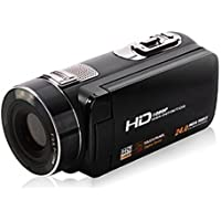 ORDRO 1080p Full Hd Video Camera 16x Digital Zoom Teleconverter Wide Angle Digital Rotation Touch Screen Max 24mp Support Face Detection (HDV-Z8 & WideAngle Lens)