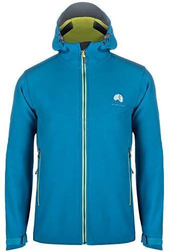 Mishmi Takin Misti Water Resistent, Wind Resistent, Fleece-Lined Soft Shell Men's Teal Blue Jacket, Medium