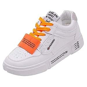 ZHRUI Zapatillas de Deporte cómodas para Mujer Moda Deportiva Casual Zapatillas Planas Zapatillas de Deporte (Color : Naranja, tamaño : 5 UK): Amazon.es: ...