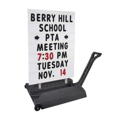 (Rolling Springer Message Board Sidewalk Sign)