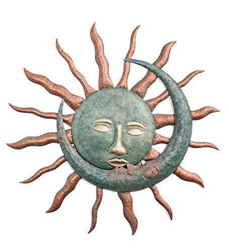 Wind & Weather Sun Kissing Moon Metal Wall Art