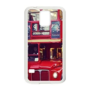 Samsung Galaxy S5 Cases Cute London red double decker bus Protective For Girls, Samsung Galaxy S5 Case 2015 Kweet, [White]