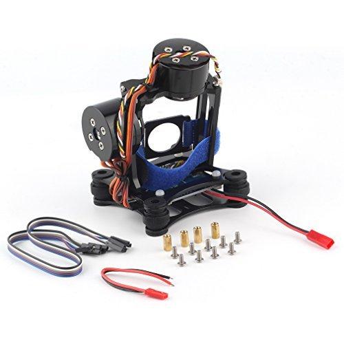 2-Axis DJI Phantom Gopro 3 3+ 4 CNC Brushless Motor Camera Gimbal with BGC Controller RTF for DJI Phantom 1 2 3 GoPro Hero3+ Hero3 FPV - Black