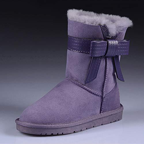 JYSSYLZH Schneestiefel Winter Schnee Stiefel Frauen Rohr Warme Kurze Stiefel Süße Dicke Baumwolle Stiefel