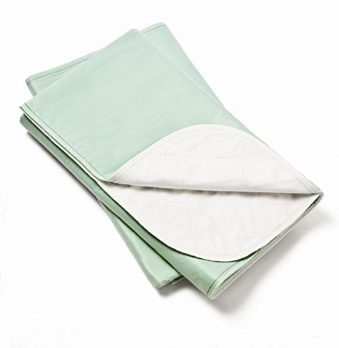 (2 Pack, Bed Pad Heavy Duty Reusable Underpad Washable 34x36 Green)