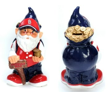 Louis St Coin (Forever Collectibles St. Louis Cardinals Garden Gnome Coin Bank)