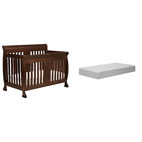 Da Vinci Cherry Convertible Crib (Porter 4-In-1 Convertible Crib with Complete Toddler Mattress with Hypoallergenic Waterproof Cover)